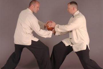 Train with a Partner using a Tai Chi Ball